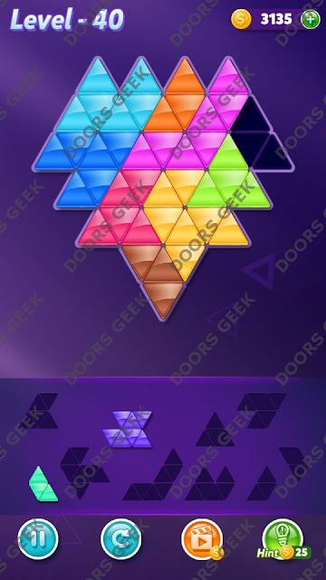 Block! Triangle Puzzle Proficient Level 40 Solution, Cheats, Walkthrough for Android, iPhone, iPad and iPod
