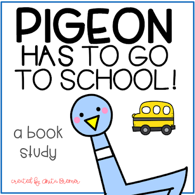 Pigeon HAS to Go to School! book study companion activities to go with the story by Mo Willems. A fun back to school book! Your students will love this hilarious book about a Pigeon who is hesitant to go to school! Packed with fun literacy ideas and guided reading activities. K-2 Common Core aligned. #bookstudy #bookstudies #bookcompanion #bookcompanions #backtoschool #picturebookactivities #kindergartenreading #1stgradereading #2ndgradereading #guidedreading #pigeon #mowillems