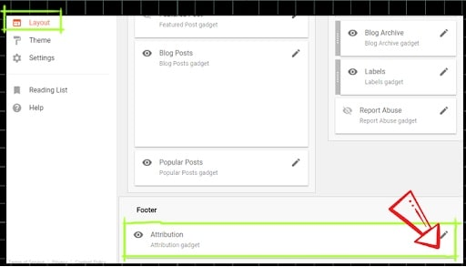 widget de attribution de blogger