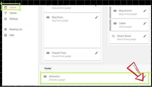 editar el widget de attribution