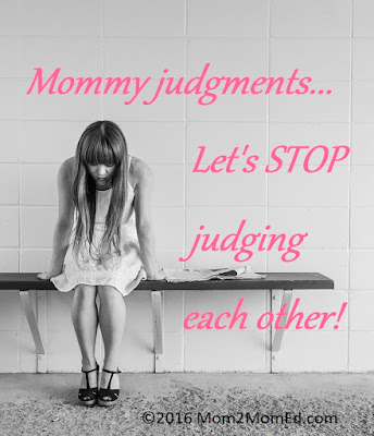 Mommy judgments: Let's stop judging each other