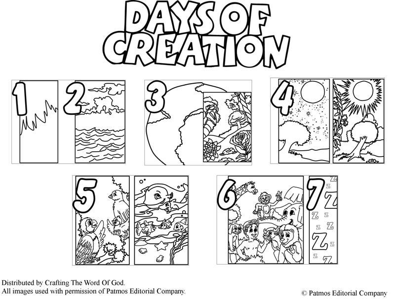 Educar con Jesús: Días de la Creación - Days of creation