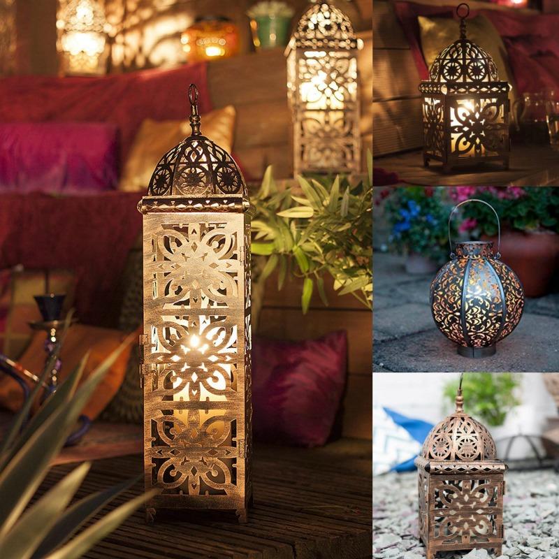 farolillo estilo marroquí con luz led