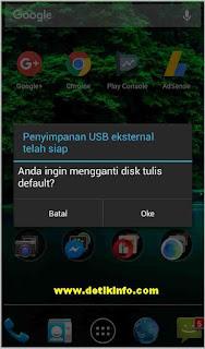 mengganti penyimpanan ponsel ke eksternal memori