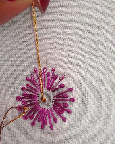Anything creative french knot hand embroidery
