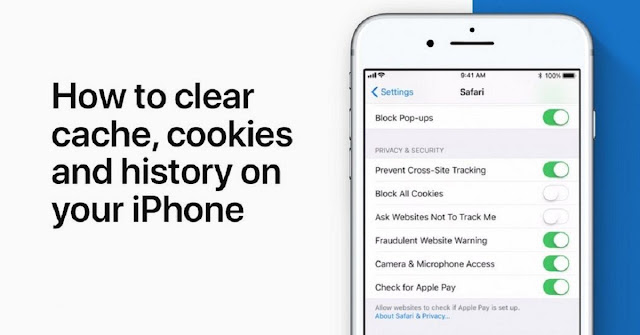 clear cache and cookies safari iphone