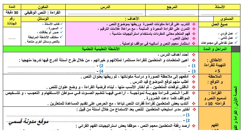 جذاذات نمطية للغة العربية المستويين 5+6 الخامس و السادس ابتدائي وفق اخر المستجدات