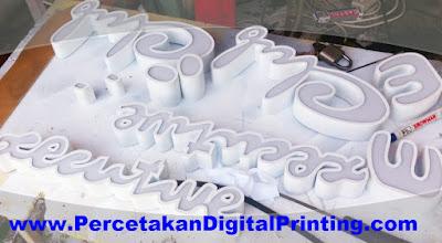 Contoh Contoh Desain HURUF TIMBUL ACRYLIC Dari Percetakan Digital Printing Terdekat