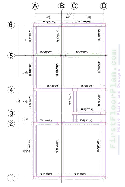 6 Storey Building Floor Beam Layout