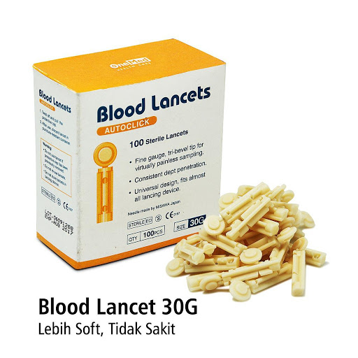 Onemed Jarum Blood Lancet 21G 28G 30G isi 100pcs