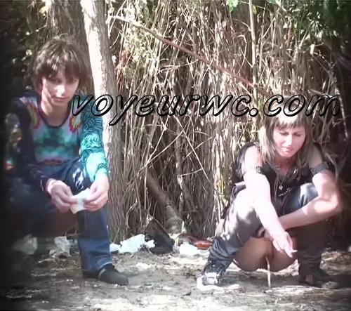 PissHunters 9091-9106 (Outdoor voyeur peeing. Voyeur public toilet spy cam)