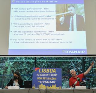 CEO RYANAIR chama nuno santos pinóquio, apodrecetuga, tap mentiras socialistas