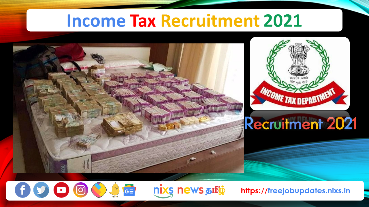 Income Tax Recruitment 2021 28 Tax Assistant Posts - Apply Online