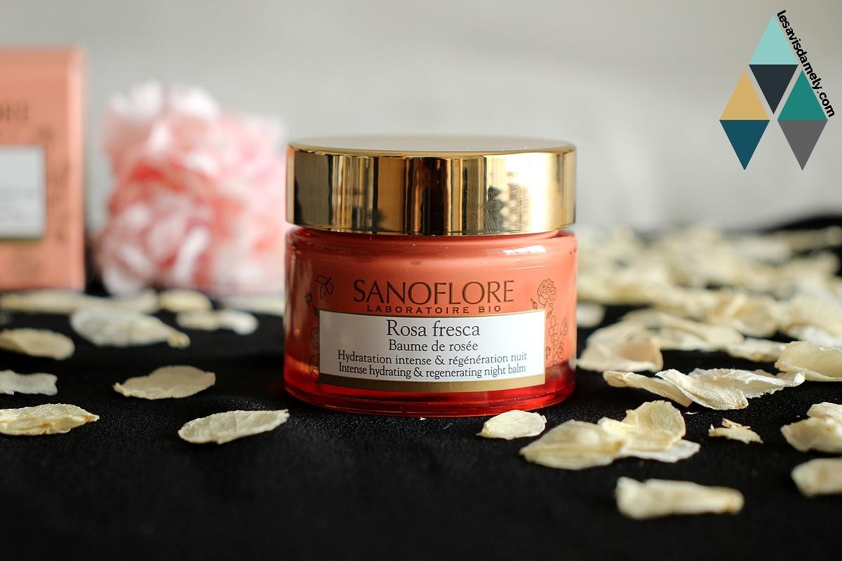 avis rosa fresca crème de nuit sanoflore bio hydratant et régénérant