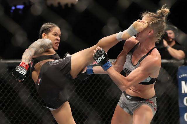 Amanda Nunes Kicks Holly Holm