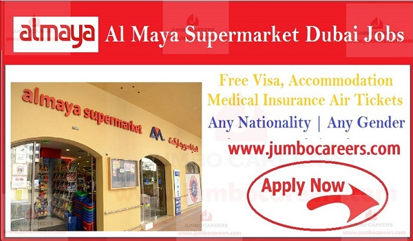 Free visa air ticket jobs in Dubai, Latest supermarket jobs with salary and benefits,