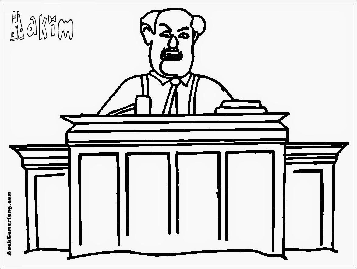Gambar Mewarnai Profesi Hakim