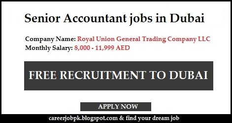 Senior Accountant jobs in Dubai 2016