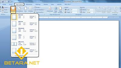 Cara Mengatur Margin Halaman Ms. Office Word Cepat dan Mudah