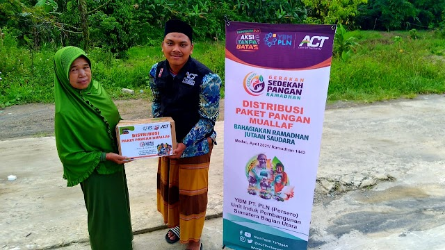 YBM PLN- ACT Medan Bagikan 50 Paket Pangan ke 3 Desa di Sibolangit