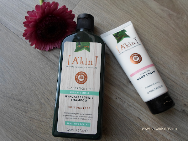 Review A'kin Mild & Gentle Fragrance Free Shampoo and Calming Hand Cream