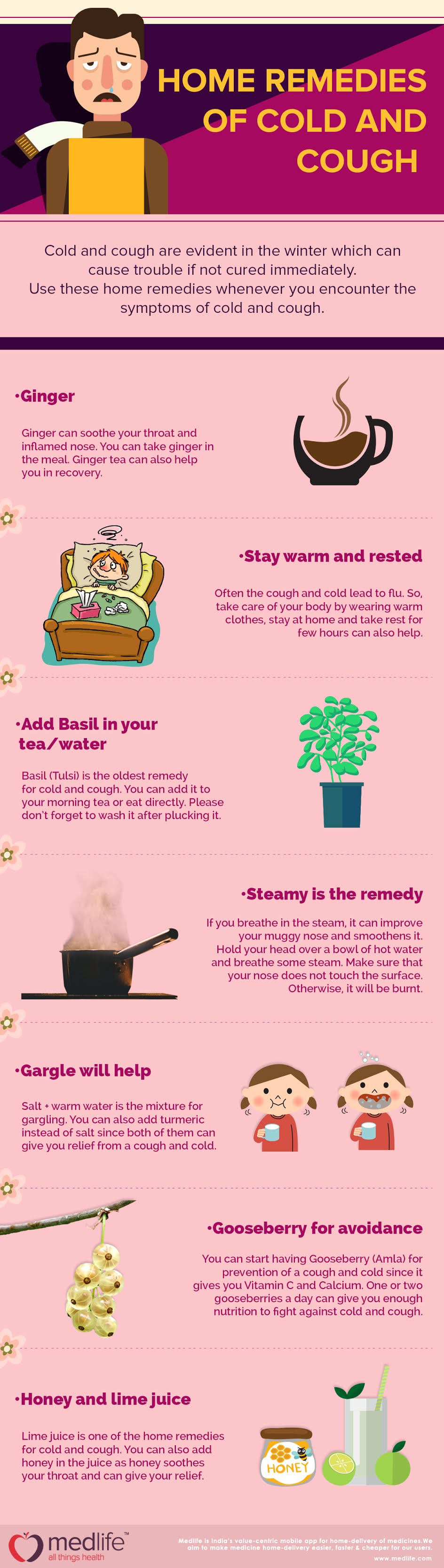 Home Remedies of Cold and Cough #infographic #Health #Cough #Cold and Cough #Home Remedies #Remedies