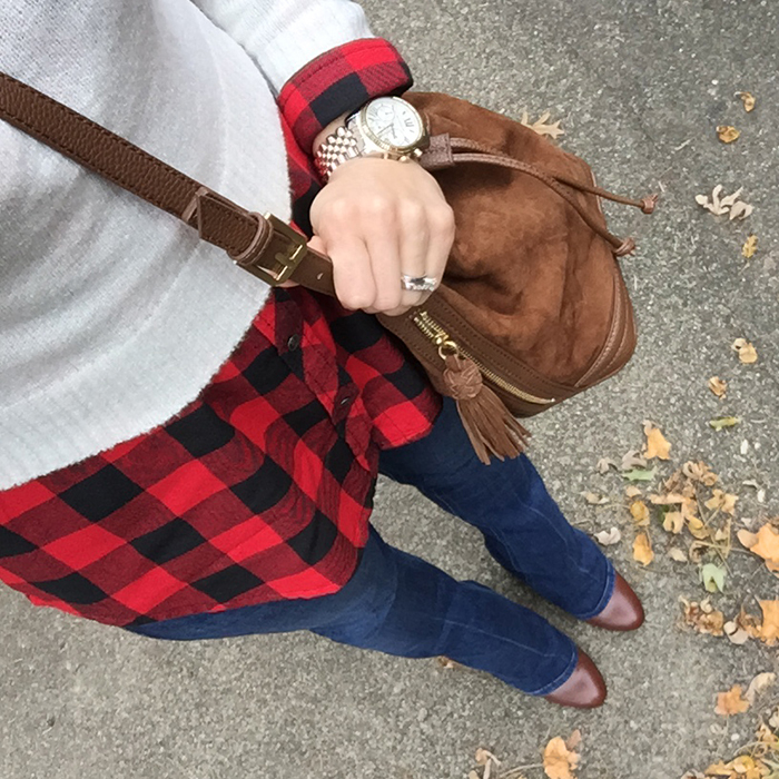 fringe, buffalo plaid, flare jeans, seventies, boho trend, fall trends, over 40 fashion