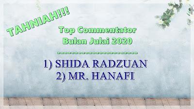 Top Commentator bulan Julai 2020.. TAHNIAH..!