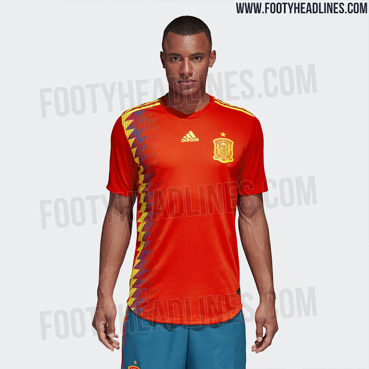 c2a5ff25c4e Spain 2018 World Cup Home Kit Released - Footy Headlines