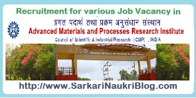 Naukri Vacancy Recruitment AMPRI Bhopal