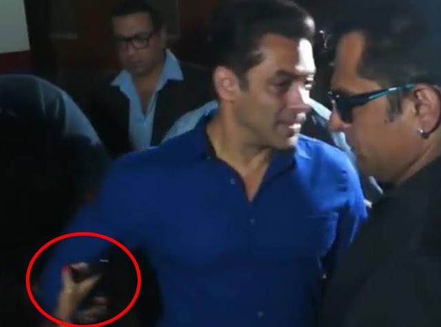 लड़की ने खींच लिया हाथ तो आ गया सलमान खान को गुस्सा - newsonfloor.com