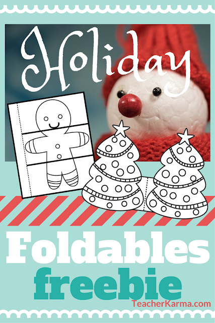 holiday foldables for interactive notebook