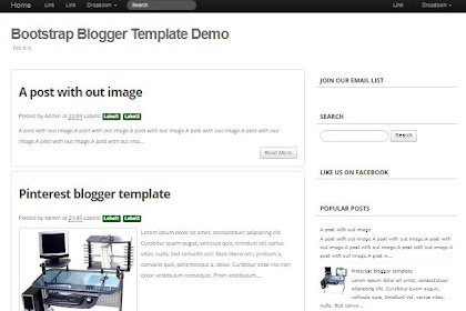 Bootstrap Blogger Template Free Download