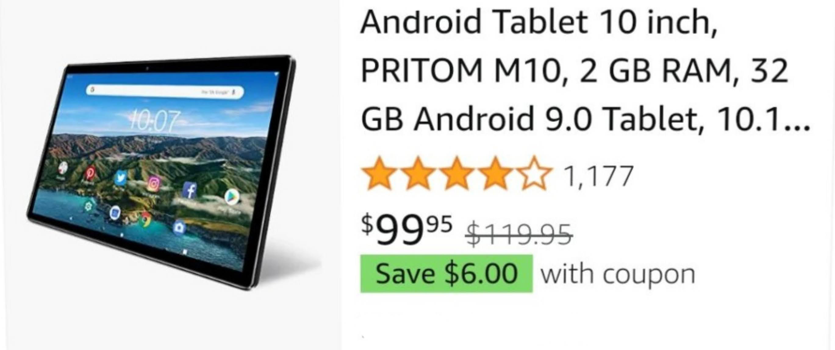 PRITOM Android tablet 10 inch andriod 9