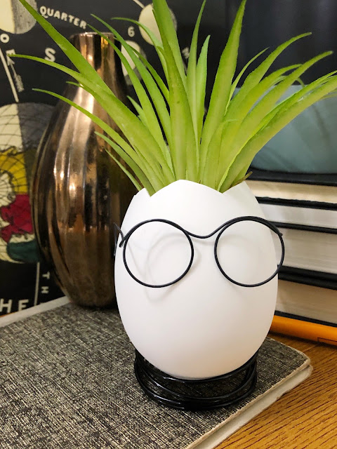 Easter egg head planter