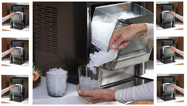 How is ice created in ice makers?