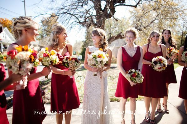 rewear red short bridesmaid dresses