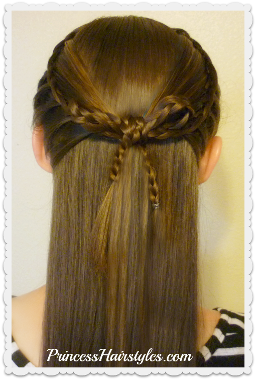 Faux French Braids and Braided Bow, Cross Bow Hairstyle ...