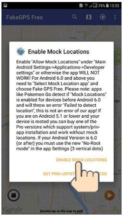 Set up fake GPS location and make your friends stupid