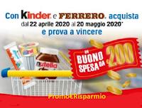 Logo Concorso ''Dolce primavera con Kinder e Ferrero'' : in palio 100 buoni spesa da 200 euro