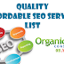 Best Affordable SEO Services List All Time.