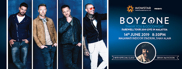 "Konsert Terakhir Boyzone ""Thank you and Goodnight Farewell"" Bersama Artis Jemputan Brian McFadden"