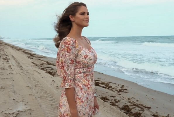 Princess Madeleine wore a new Gloria sorbet floral dress from By Malina. Princess Leonore and Prince Nicolas