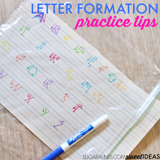 Use these letter construction tips to help kids learn accurate letter formation to help with legibility and neat handwriting.