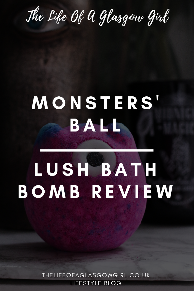Monsters' Ball Lush Bath Bomb review on Thelifeofaglasgowgirl.co.uk