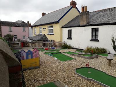Crazy Golf at The Beaver Inn, Appledore, Devon. Photo by Alan Norman, September 2020
