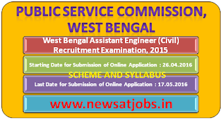 wesst+bangel+assistant+engineer+examination+2015+scheme+and+syllabus