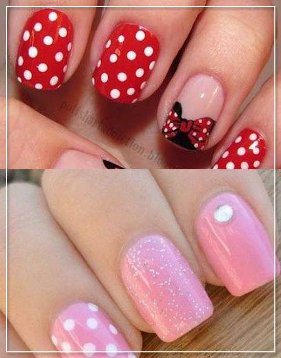 Polka Dots nail designs