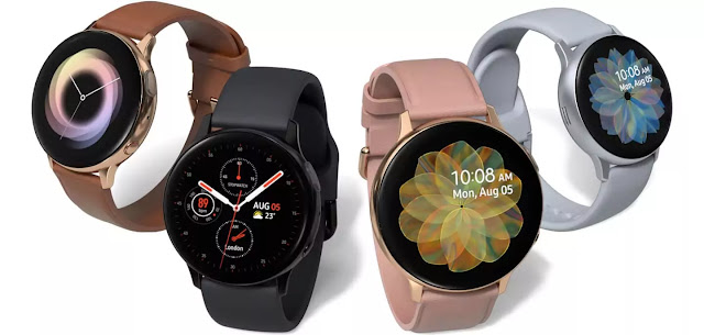 Samsung Galaxy Watch Active 2 (Bluetooth, 44 mm) - Black, Aluminium Dial, Silicon Straps
