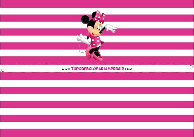 faixa minnie rosa para bolo